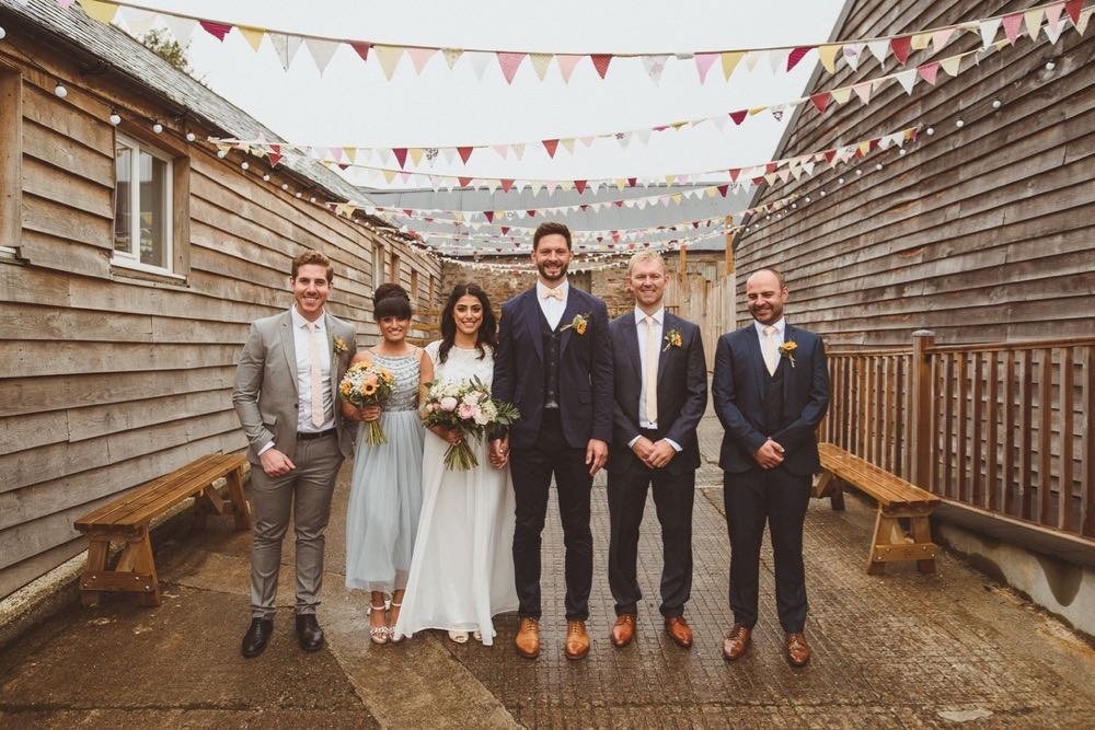 A wedding party in the courtyard