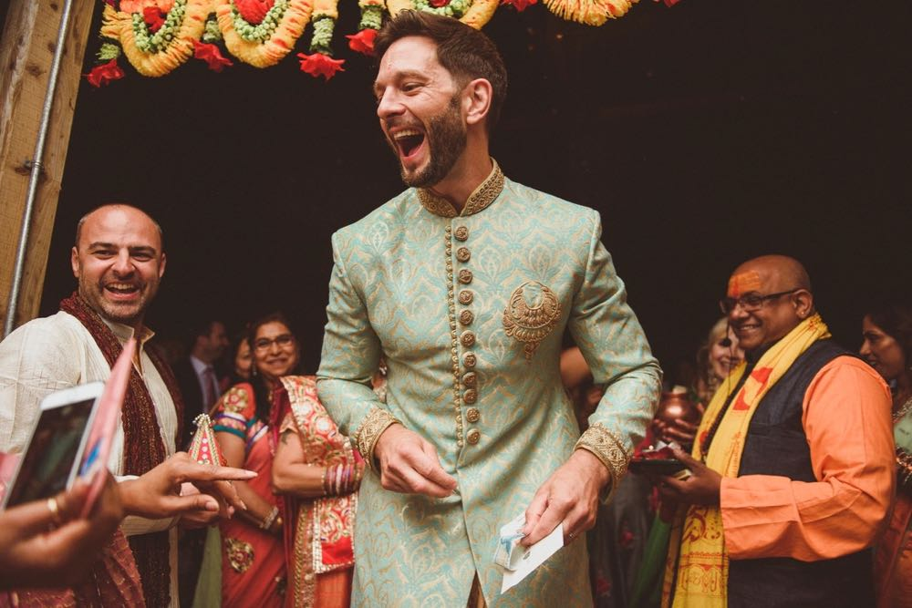 Kejal & Matt ensured they represented both their heritages by having a fabulous fusion rustic Indian country wedding at The Green in Cornwall.