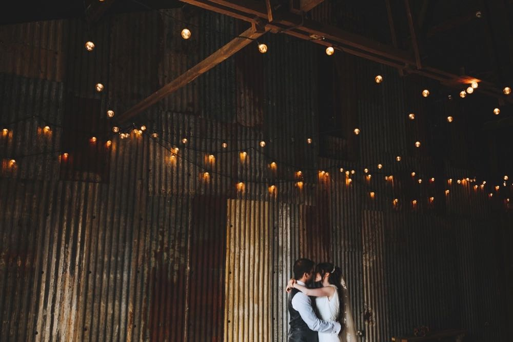 Amy and Kieran  in the Really Rustic Barn