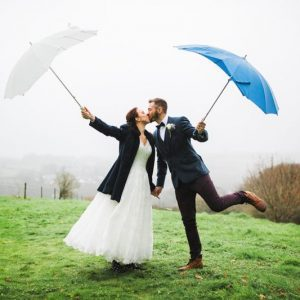 wet weather wedding pictures
