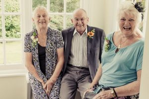 Happy wedding guests - The Green Cornwall
