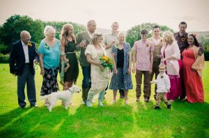 Family wedding photo - The Green Cornwall
