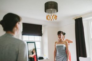 The bride getting ready - The Green Cornwall