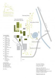 A site plan showing all the bulidings at Teh Green and Their relative positions